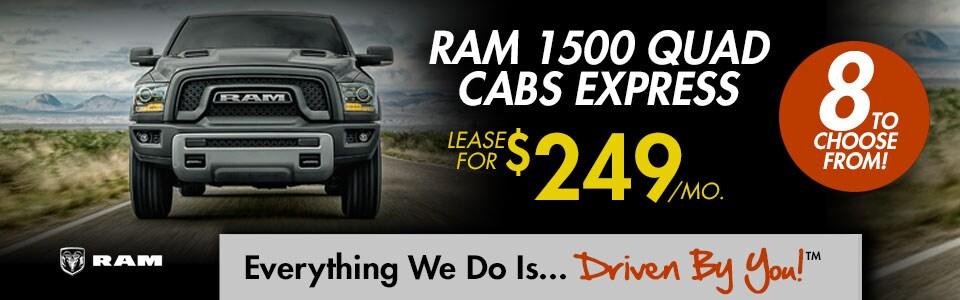 Ram 1500 Quad Cab Express Lease Special at Tri-City Dodge