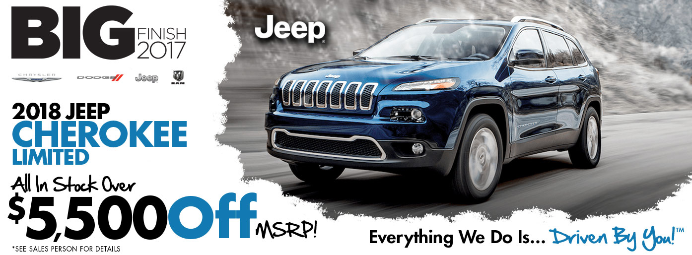 Brand New 2018 Jeep Cherokee Limited Special