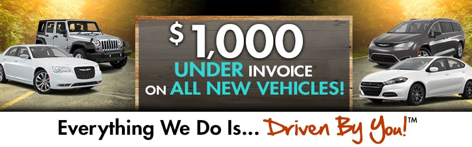 New Vehicle Special at Tri-City Chrysler Jeep Dodge Ram