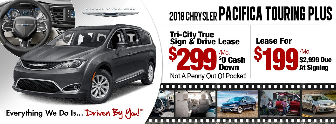 2018 Chrysler Pacifica Touring Plus Lease Special at Tri-City