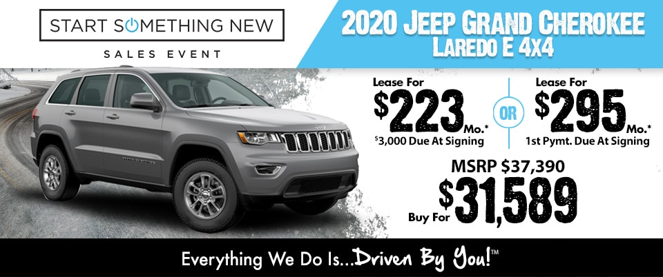 2019 Jeep Grand Cherokee Limited Lease Special at Tri-City