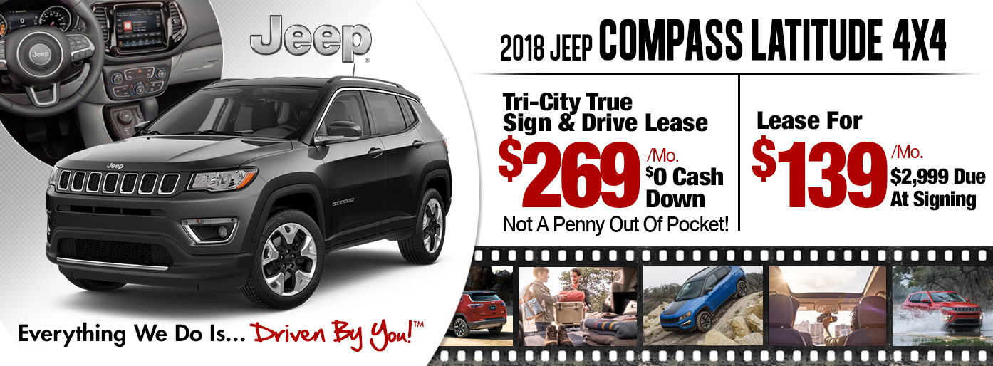 2018 Jeep Compass Latitude 4x4 Lease Special at Tri-City
