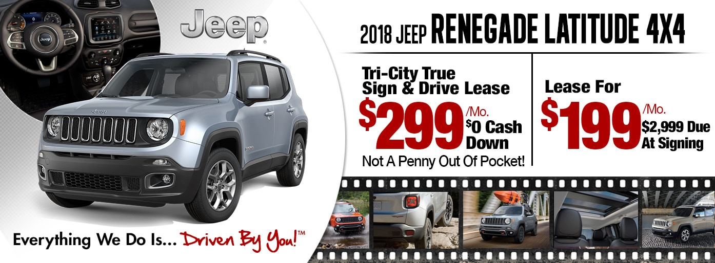 2018 Jeep Renegade Latitude 4x4 Lease Special at Tri-City