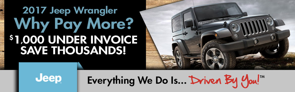 2017 Jeep Wrangler Special at Tri-City Dodge