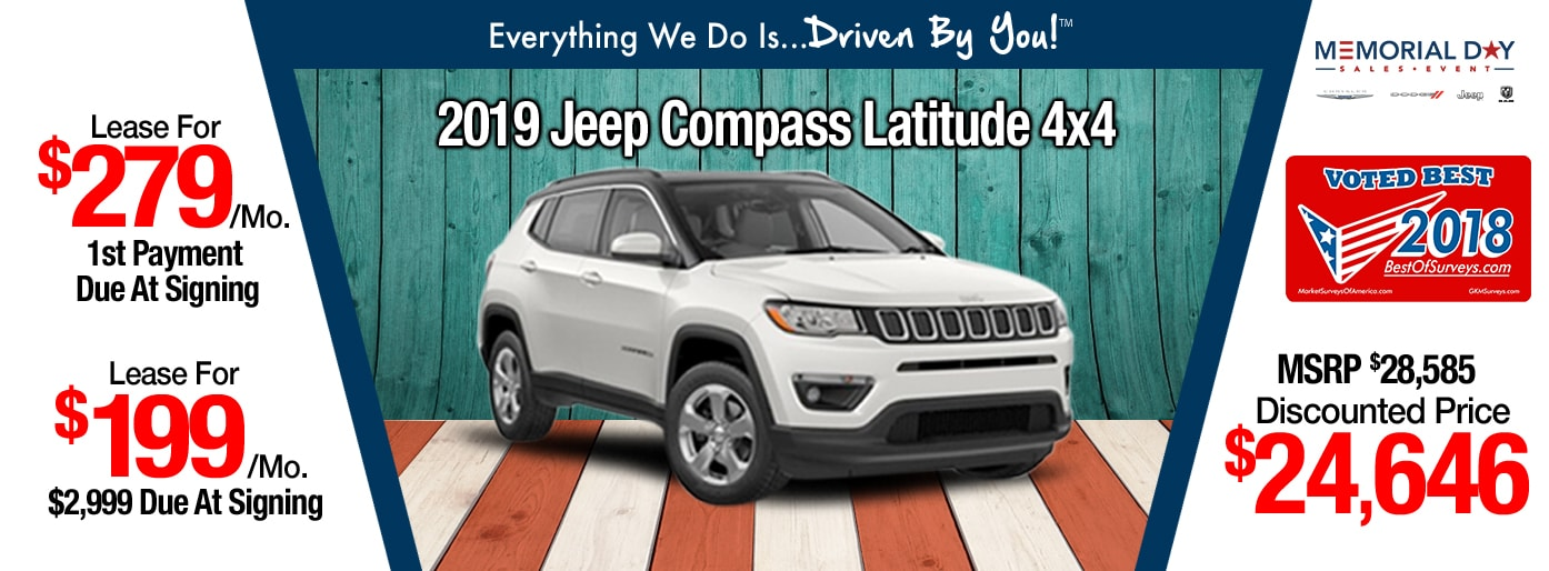2019 Jeep Compass Latitude 4x4 Lease Special at Tri-City