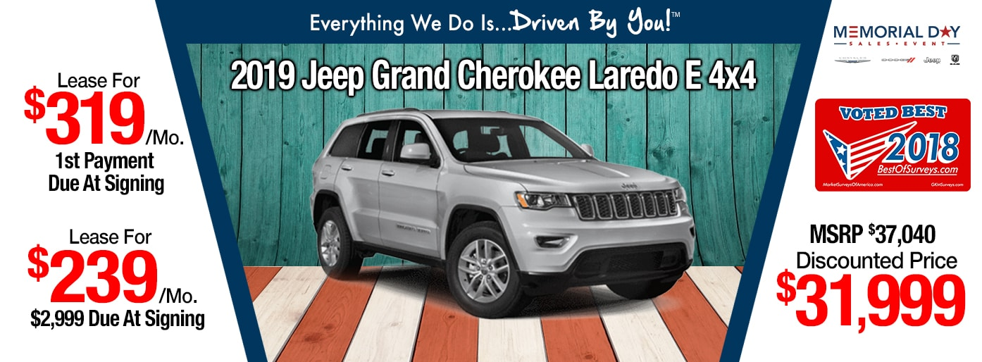 2019 Jeep Grand Cherokee Laredo Lease Special at Tri-City