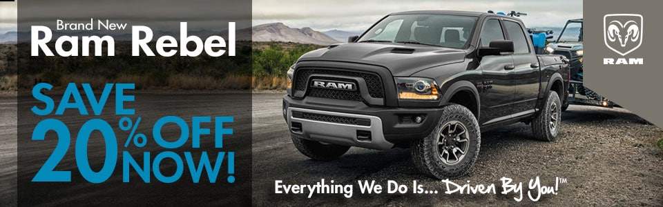 Ram Rebel Special at Tri-City Chrysler Jeep Dodge Ram
