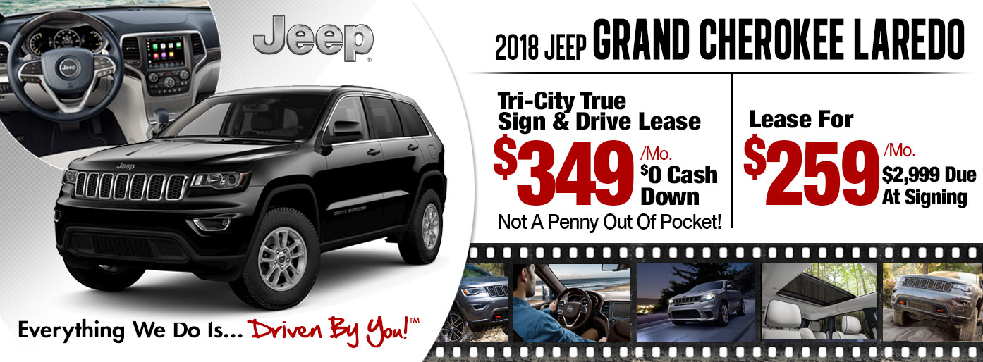 2018 Jeep Grand Cherokee Laredo Lease Special at Tri-City