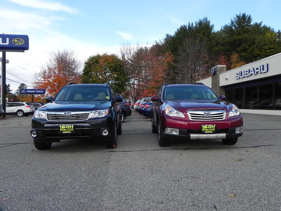 Forester Vs Outback >> Forester Vs Outback Side By Side Tri City Subaru