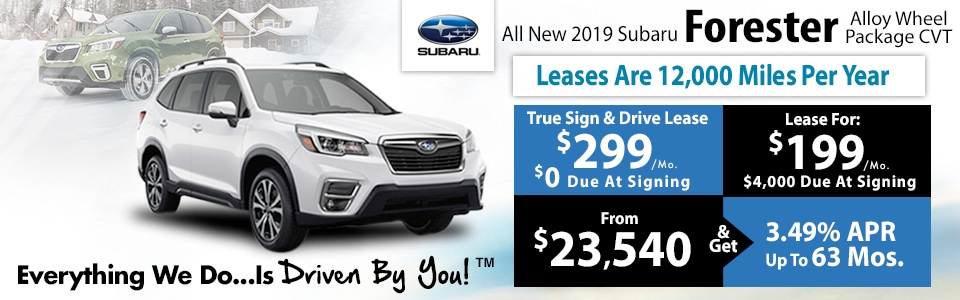 The All new 2019 Subaru Forester at Tri-City Subaru