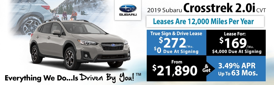 2019 Subaru Crosstrek 2.0i CVT Lease Special at Tri-City Subaru