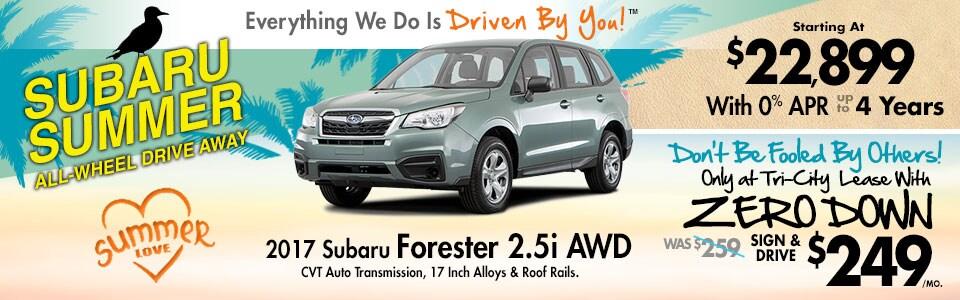 2017 Subaru Forester 2.5i AWD Lease Special at Tri-City Subaru