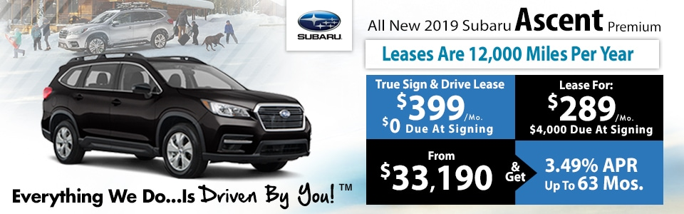 2019 Subaru Ascent Lease Special at Tri-City Subaru