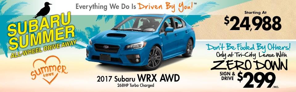 2017 Subaru WRX AWD Lease Special at Tri-City Subaru