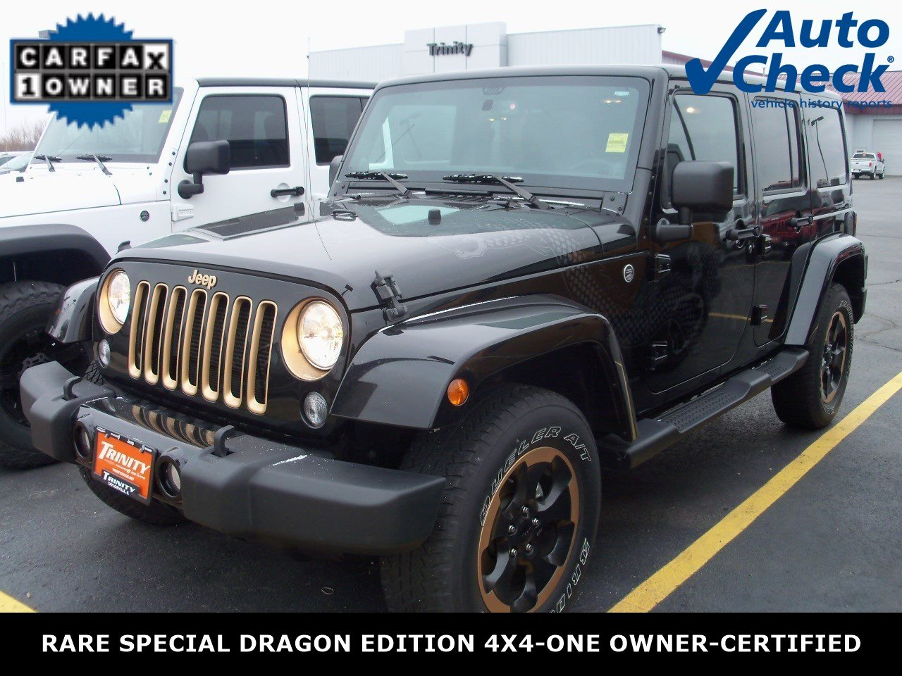 certified used 2014 jeep wrangler unlimited dragon edition 4x4 for sale in taylorville il. Black Bedroom Furniture Sets. Home Design Ideas