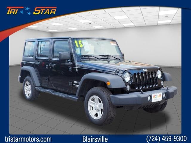 Featured pre-owned cars, trucks, and SUVs 2015 Jeep Wrangler Unlimited Sport 4x4 SUV for sale near you in Blairsville, PA