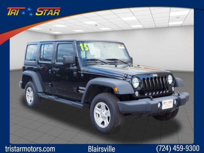Certified Used 2015 Jeep Wrangler Unlimited Sport 4x4 For Sale