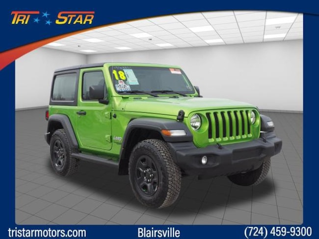 Jeep Wrangler For Sale In Pa >> Certified Used 2018 Jeep Wrangler Sport 4x4 For Sale Blairsville Pa