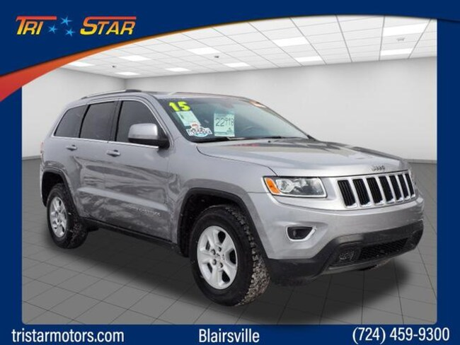 Certified Pre-Owned 2015 Jeep Grand Cherokee Laredo 4x4 SUV for sale in Blairsville, PA at Tri-Star Chrysler Motors