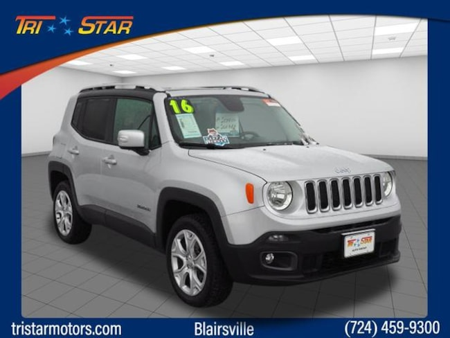 Certified Pre-Owned 2016 Jeep Renegade Limited 4x4 SUV for sale in Blairsville, PA at Tri-Star Chrysler Motors
