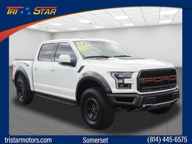Used 2017 Ford F-150 Raptor Crew Cab Short Bed Truck for sale in Somerset, PA