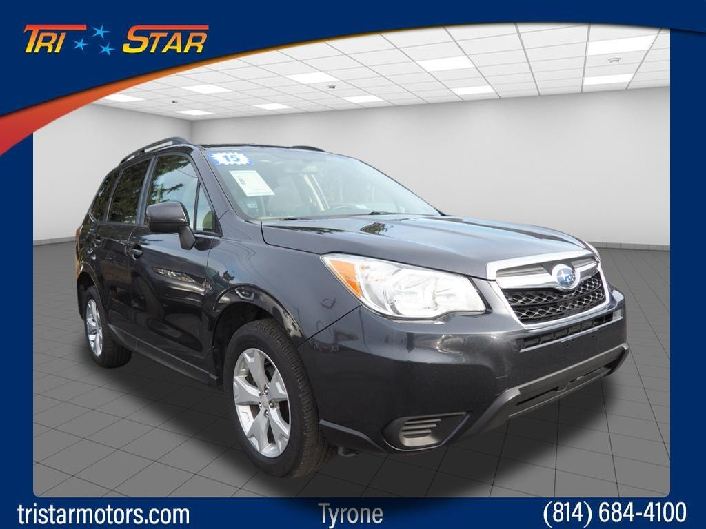 Featured pre-owned cars, trucks, and SUVs 2015 Subaru Forester 2.5i Premium AWD 2.5i Premium  Wagon CVT for sale near you in Tyrone, PA
