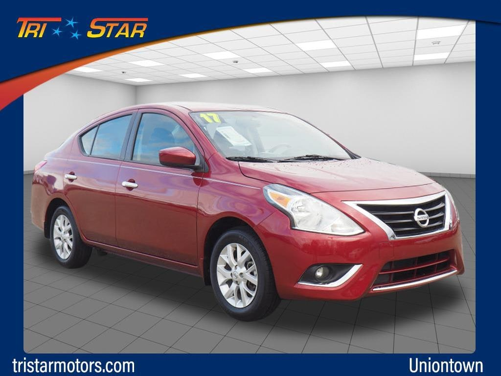 Featured pre-owned cars, trucks, and SUVs 2017 Nissan Versa 1.6 SV Sedan for sale near you in Uniontown, PA