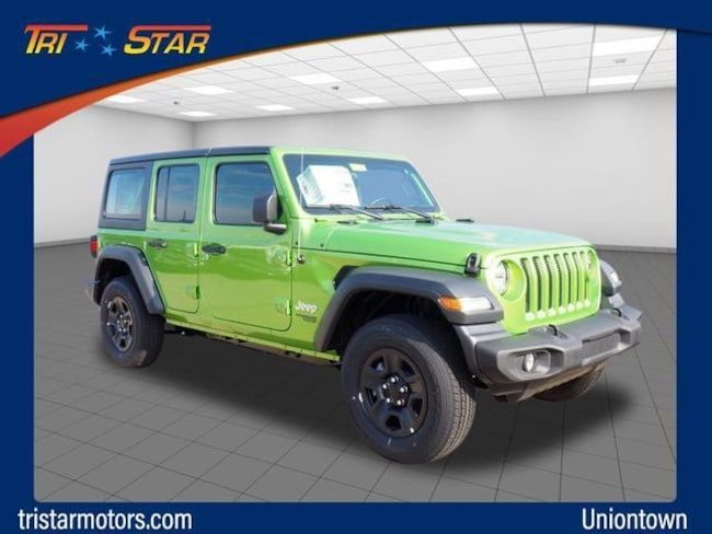 New 2018 Jeep Wrangler UNLIMITED SPORT 4X4 Sport Utility in Uniontown