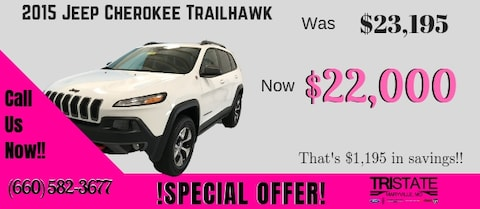 2015 Jeep Cherokee Trailhawk Special Offer!!