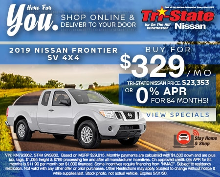 2019 NISSAN FRONTIER SV 4X4  Buy For $329 Per Month