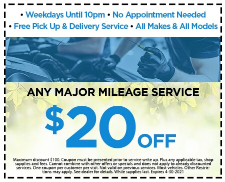 5.$20 Off Any Major Milage Service