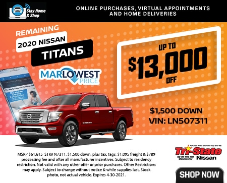 REMAIING 2020 NISSAN TITANS