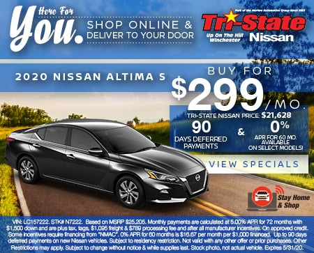 2020 NISSAN ALTIMA S  Buy For $299 Per Month