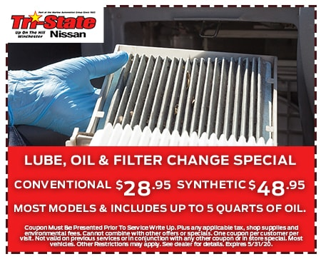 Lube, Oil, Filter Change Special