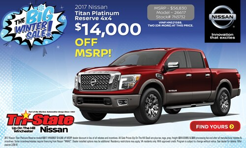 Nissan Winchester Va >> Tri-State Nissan Specials | Winchester VA | Serving Front ...