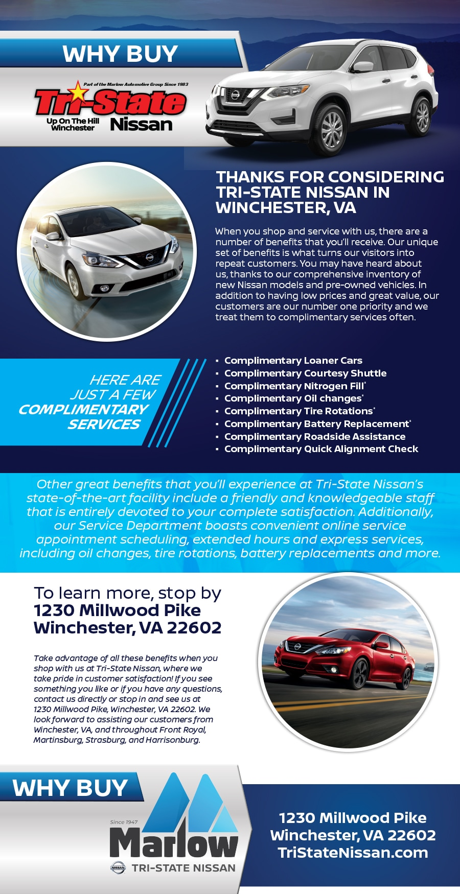 Why Buy From Tri State Nissan In Winchester Va Serving Front Royal  Martinsburg