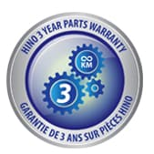 Hino 3 year parts warranty