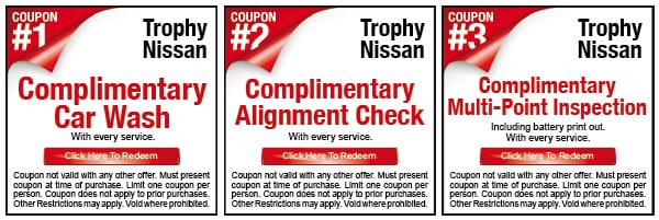Trophy Nissan Dare to Compare Service Coupons