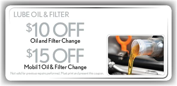 nissan oil and filter change coupons