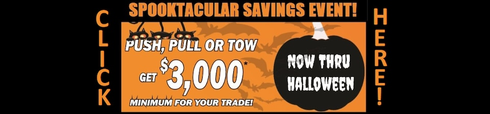SPOOKTACULAR SAVINGS EVENT!