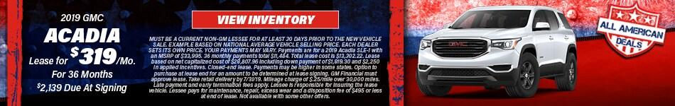 2019 GMC Acadia- Lease