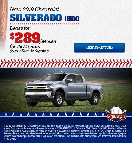 2019 Chevrolet Silverado 1500 - Lease