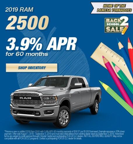 2019 Ram 2500 APR - August