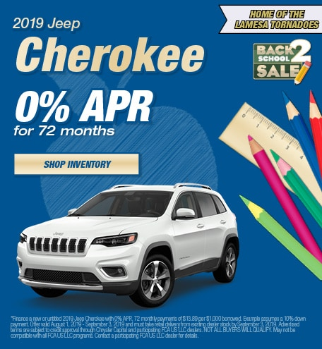 2019 Jeep Cherokee APR - August