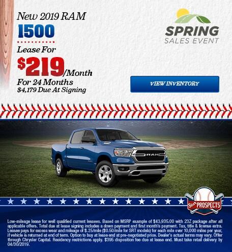 2019 RAM 1500 - Lease