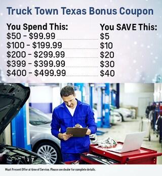 Truck Town Texas Bonus Coupon