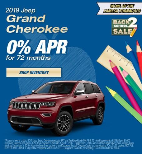 2019 Jeep Grand Cherokee APR - August
