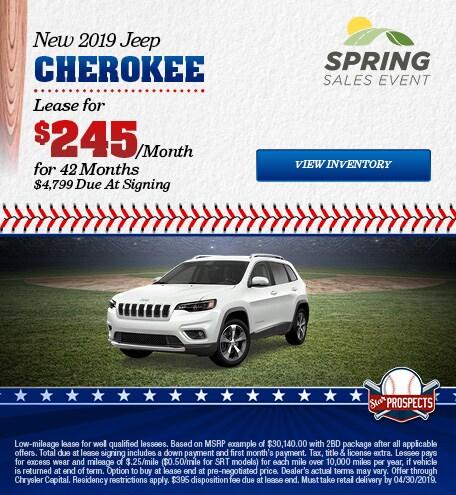 2019 Jeep Cherokee - Lease