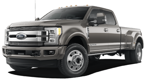 A silver 2019 Ford F-450