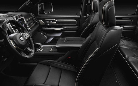A black interior on the 2019 Ram